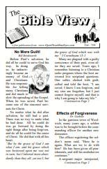 The Bible View #759 bulletin insert